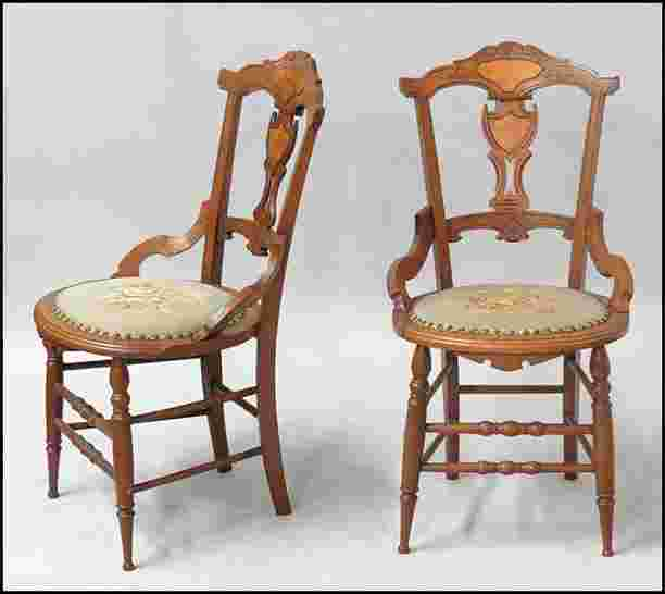 1171187 Pair Of Victorian Carved Walnut Chairs