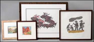 1176022 GROUP OF FOUR ASSORTED FRAMED PRINTS
