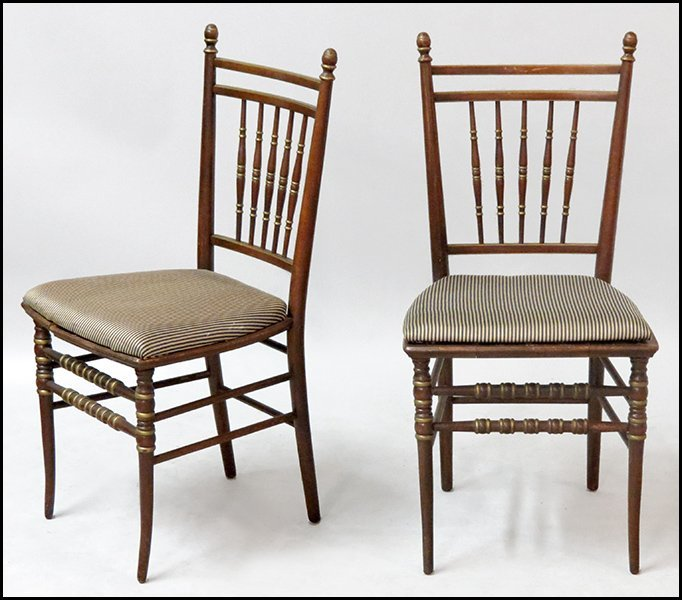 SET OF FOUR TELL CITY RECITAL CHAIRS.
