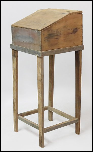 PINE LECTERN ON STAND.