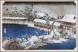 ANDO HIROSHIGE, (JAPANESE, 1797-1858) SNOW AT TEMMANGU