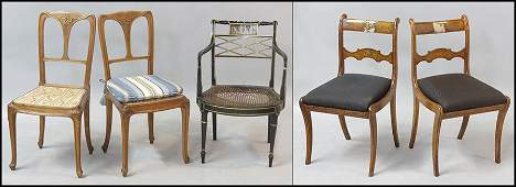 PAIR OF FRENCH PROVINCIAL SIDE CHAIRS.
