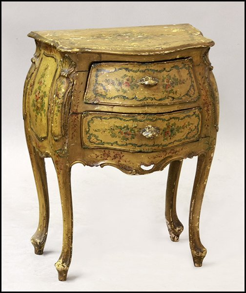 ITALIAN PAINTED GESSO AND WOOD COMMODE.