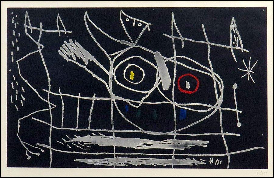 JOAN MIRO (SPANISH, 1893-1983) COUPLE D'OISEAUX III.