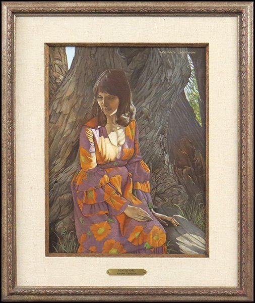 HERBERT DAVIDSON (AMERICAN, B. 1930) SEATED GIRL.