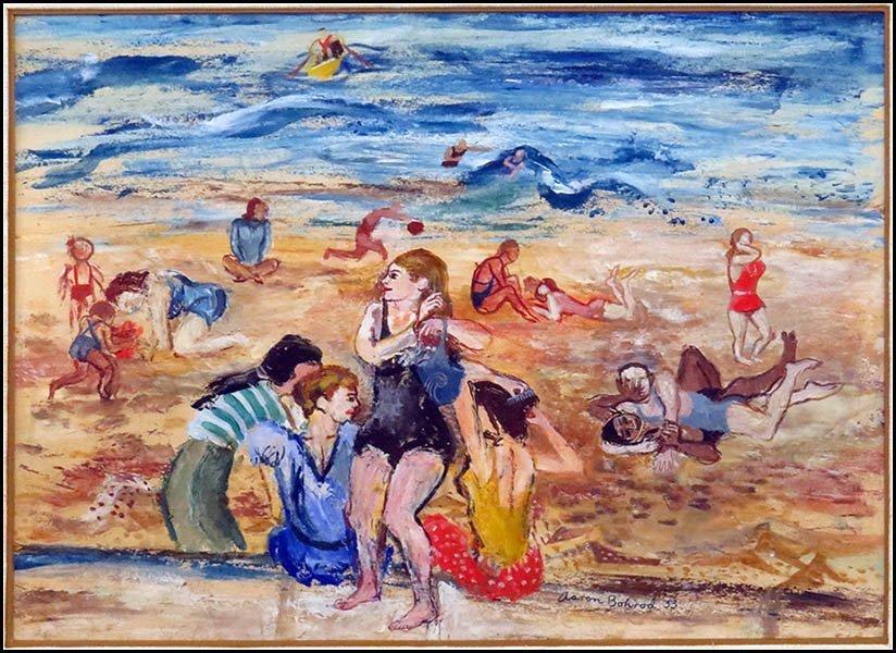 AARON BOHROD (AMERICAN 1907-1992) NORTH AVENUE BEACH, 1