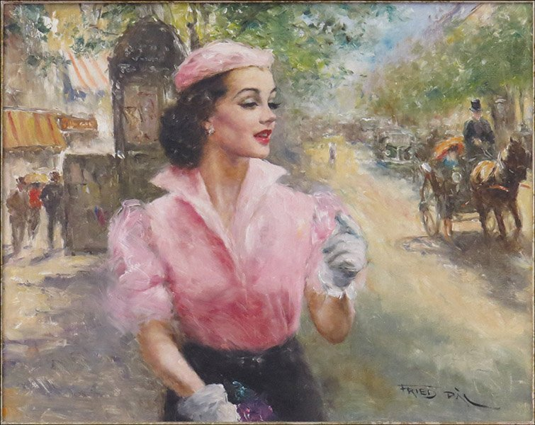 PAL FRIED (HUNGARIAN/AMERICAN,1893-1976) NANETTE.