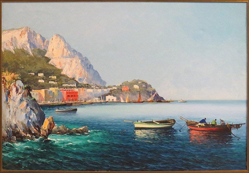 GUIDO ODIERNA (ITALIAN, 1913-1991) SEASCAPE.