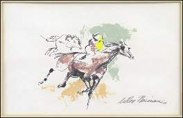 LEROY NEIMAN AMERICAN 19212012 THE RACE 1958
