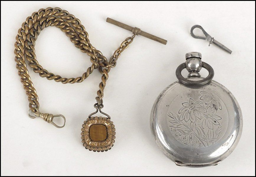 ELGIN STERLING SILVER POCKET WATCH.