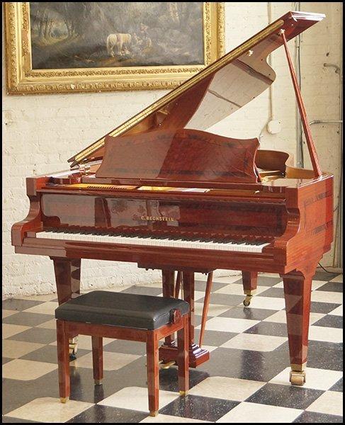C. BECHSTEIN MODEL MP INLAID GRAND PIANO.