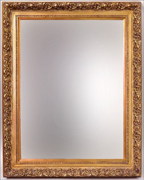 CONTEMPORARY GOLD PAINTED MIRROR.