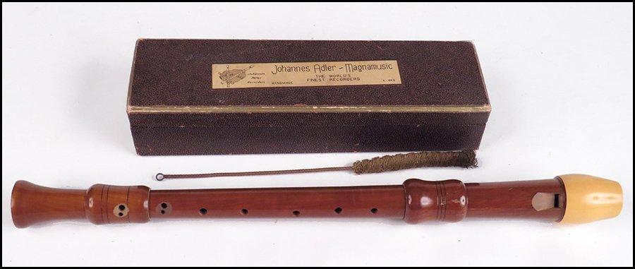 JOHANNES ADLER-MAGNAMUSIC IVORY AND PEARWOOD RECORDER.
