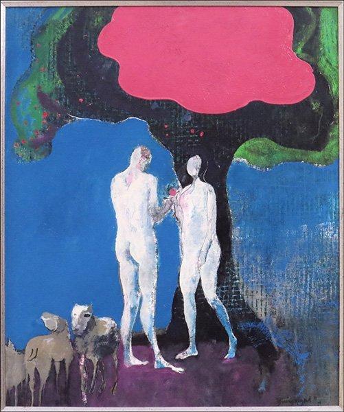 PAUL GUIRAMAND (FRENCH, 1926-2008) ADAM AND EVE.