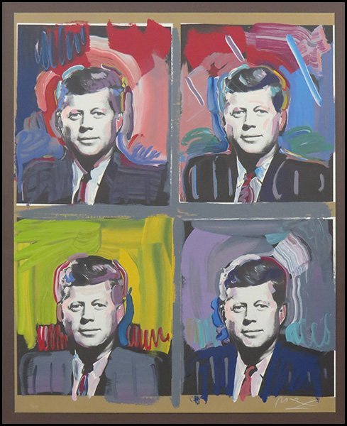 PETER MAX (GERMAN, B. 1937) JFK - FOUR PORTRAITS.
