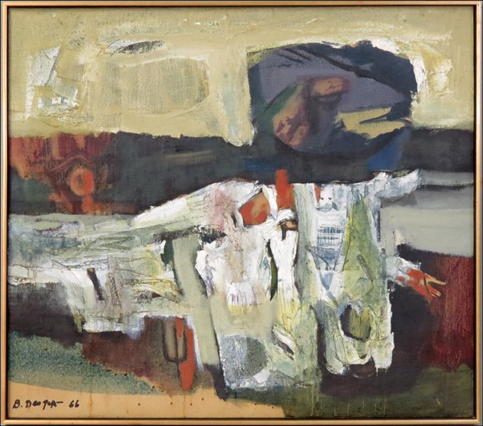 BIMAL DAS GUPTA (BENGAL, 1917 - 1995) UNTITLED ABSTRACT