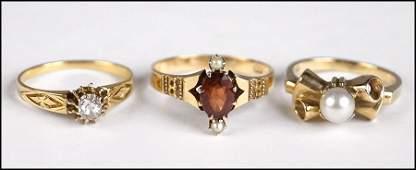 VICTORIAN DIAMOND AND 18 KARAT YELLOW GOLD RING
