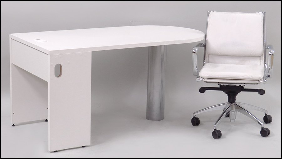 CONTEMPORARY LAMINATED WORK DESK.