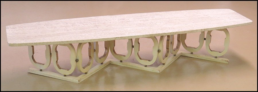 MARBLE TOP LOW TABLE.