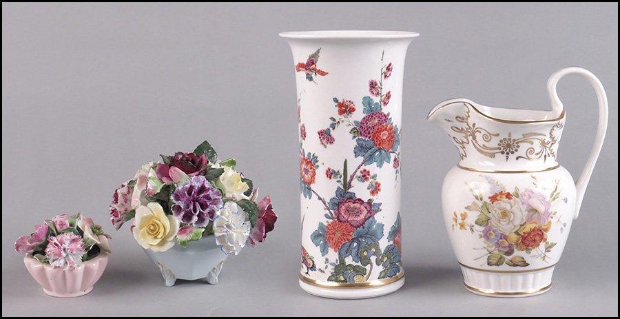 Porcelain saxony vase lenox porcelain saxony vase floridaeventfo Image collections