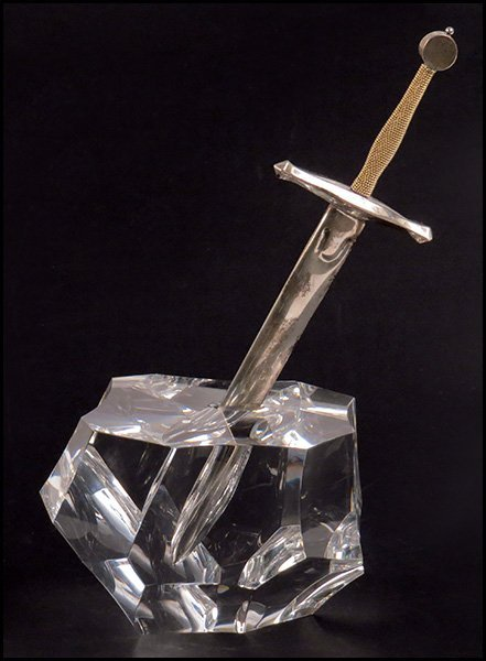 JAMES HOUSTON FOR STEUBEN, CRYSTAL EXCALIBUR.