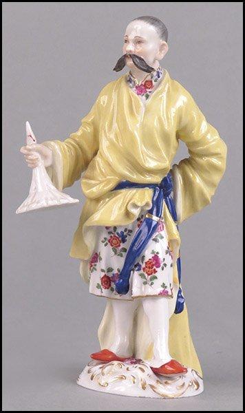 MEISSEN 19TH CENTURY PORCELAIN CHINOISERIE FIGURE.