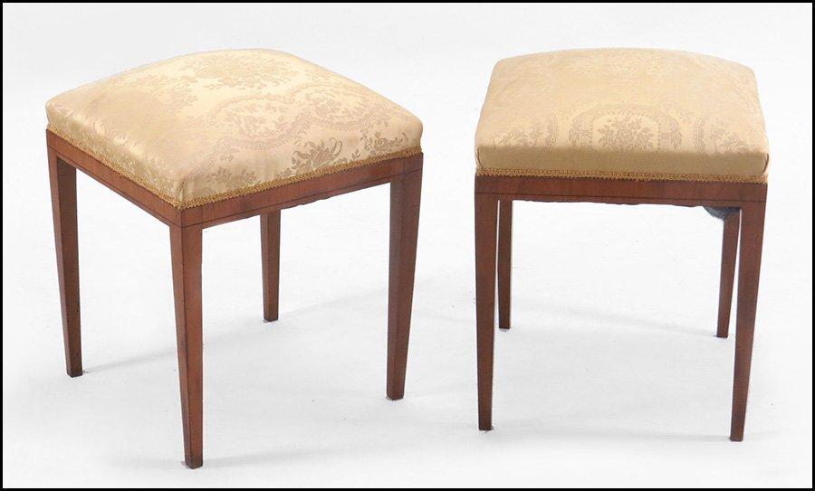 PAIR OF BIEDERMEIER FRUITWOOD STOOLS.
