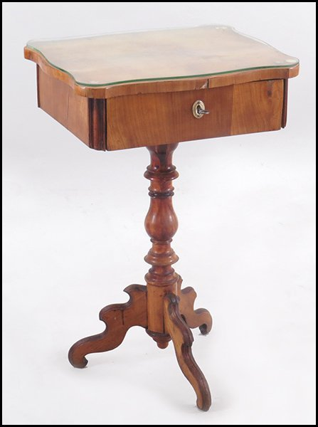 BIEDERMEIER BIRCH SEWING TABLE.