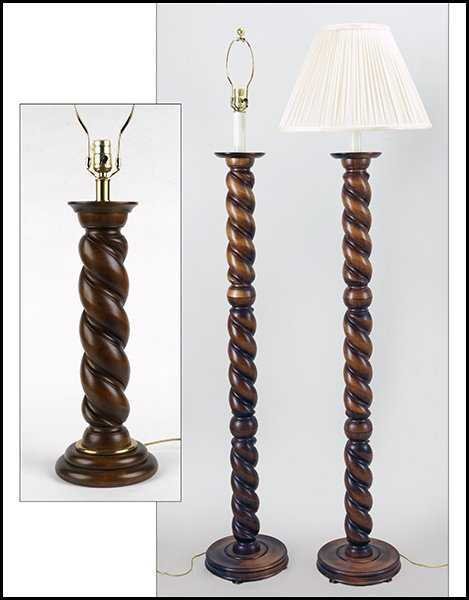 Pair of frederick cooper barley twist floor lamps mozeypictures Images