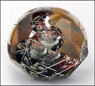 DAVID SCHWARZ (AMERICAN, B.1952) ART GLASS SCULPTURE.