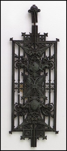 IRON ARCHITECTURAL ELEMENT FROM CARSON PIRIE SCOTT BUIL