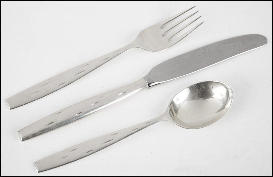 RAYMOND LOEWY FOR WALLACE, STERLING SILVER FLATWARE SER