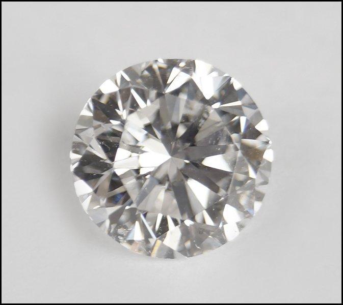 AN UNMOUNTED ROUND BRILLIANT DIAMOND.