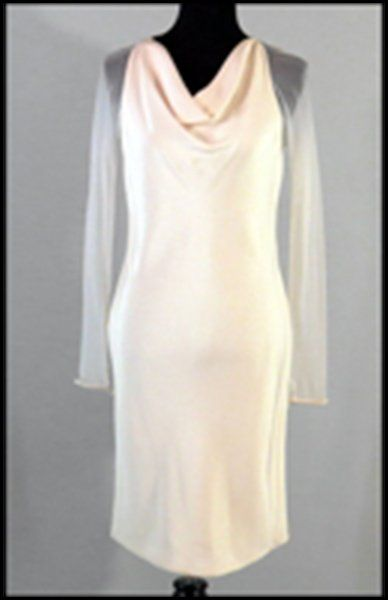 VERA WANG CREAM SILK DRESS.