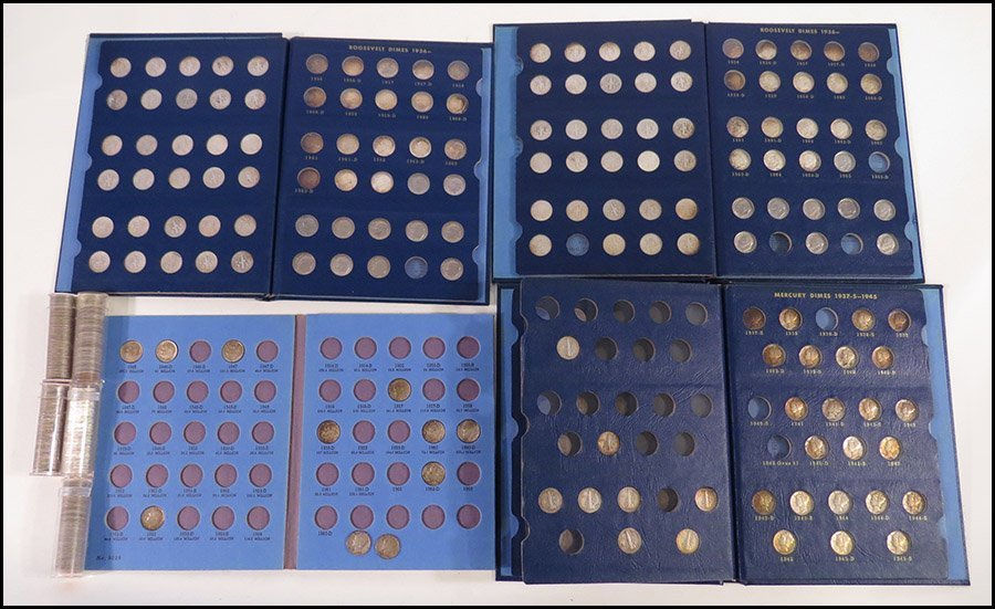 COLLECTION OF MERCURY AND ROOSEVELT DIMES.