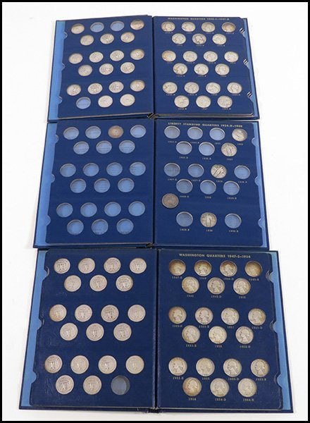 COLLECTION OF LIBERTY STANDING AND WASHINGTON QUARTERS.