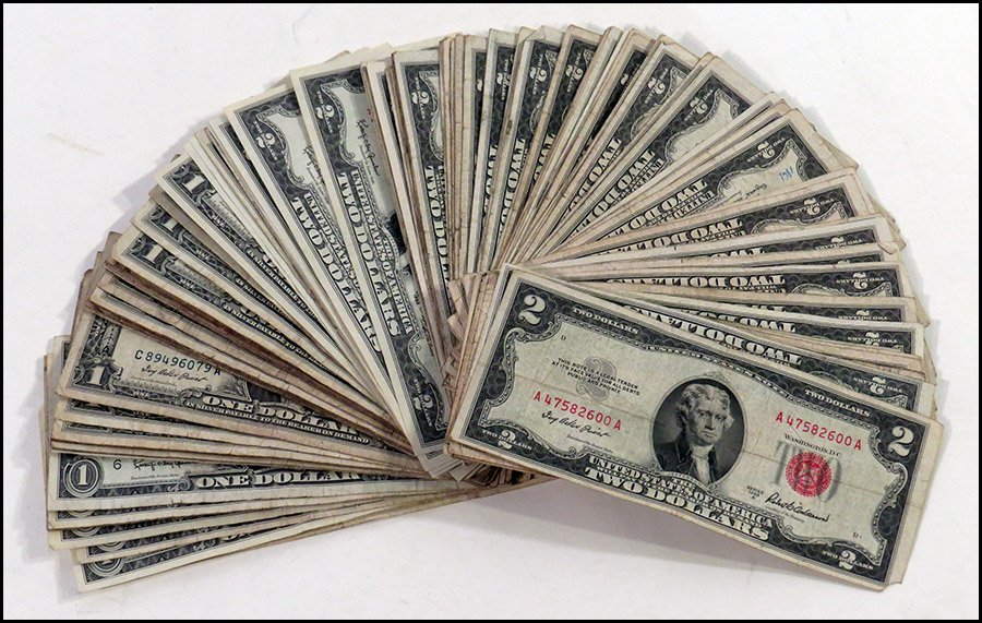 COLLECTION OF UNITED STATES AND FEDERAL CURRENCY.