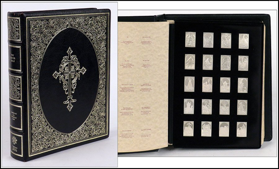THE SILVER BIBLE' MINTED BY THE FRANKLIN MINT.