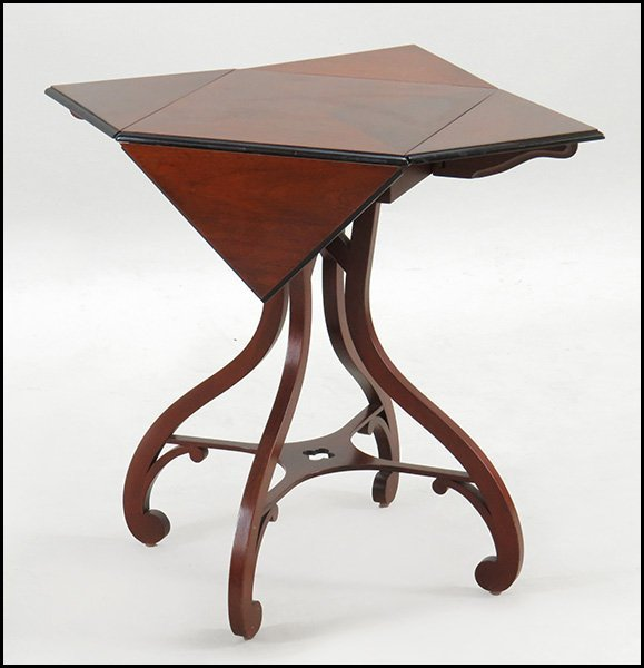 BAKER HANDKERCHIEF DROP LEAF TABLE.