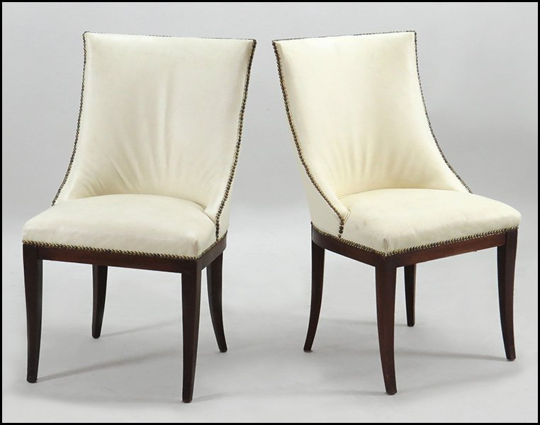 PAIR OF CONTEMPORARY SIDE CHAIRS.