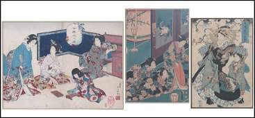 COLLECTION OF THREE JAPANESE WOODBLOCK PRINTS