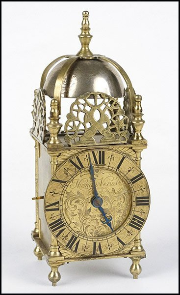 19TH CENTURY ENGLISH LANTERN CLOCK.