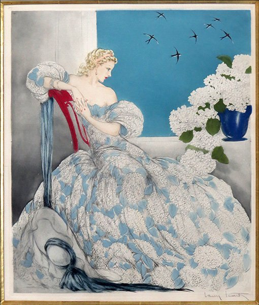 LOUIS ICART (FRENCH, 1888-1950) SYMPHONY IN BLUE.