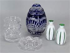 WATERFORD CRYSTAL BISCUIT JAR.