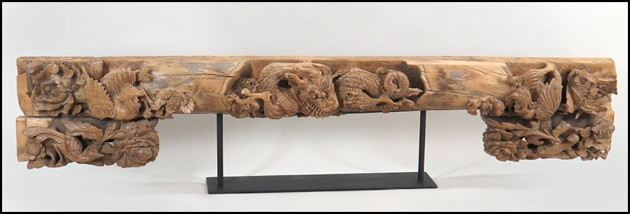 CARVED WOOD ARCHITECTURAL ELEMENT.