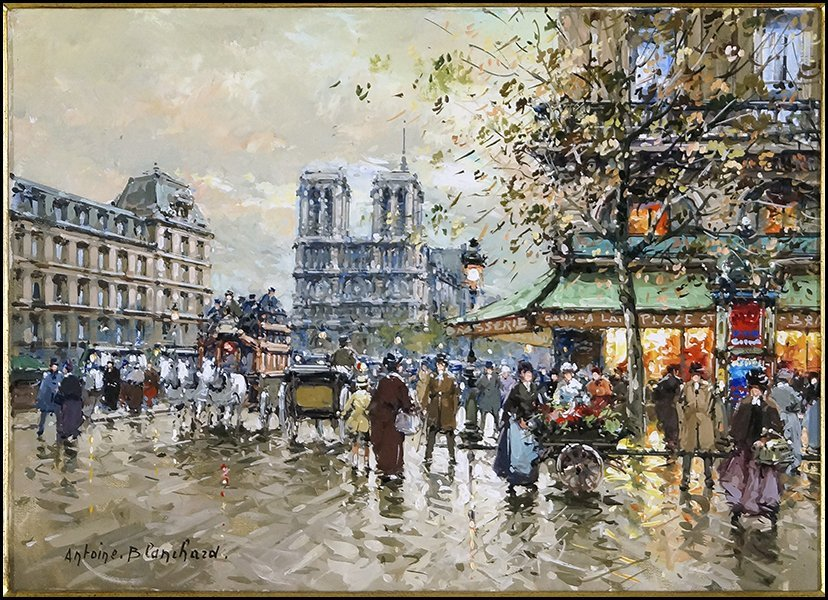 ANTOINE BLANCHARD (FRENCH, 1910-1988) PLACE ST. MICHEL