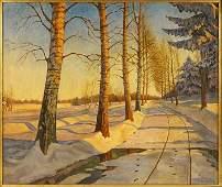 IVAN FEDOROVICH CHOULTSE (RUSSIAN, 1877 - 1932) SNOWY P