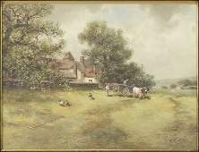 FRANK F ENGLISH AMERICAN 18541922 A COUNTRY SCENE