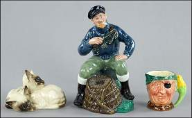 COLLECTION OF PORCELAIN FIGURES.