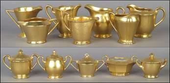 A COLLECTION OF PICKARD GILT PORCELAIN TEA SET